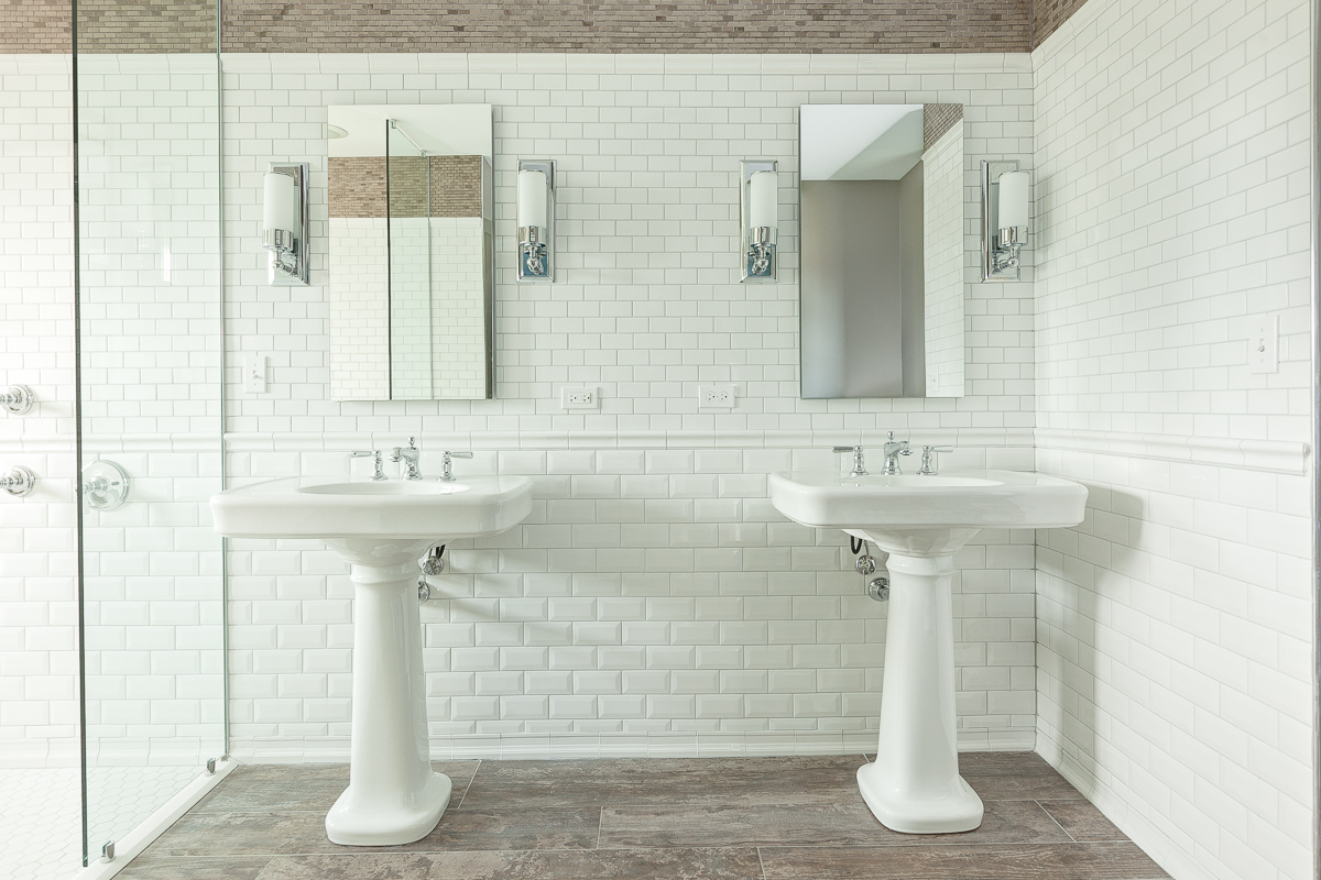 Subway Tile Wall Vanity