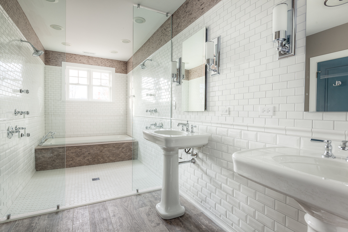 Contemporary Bathroom using subway tile