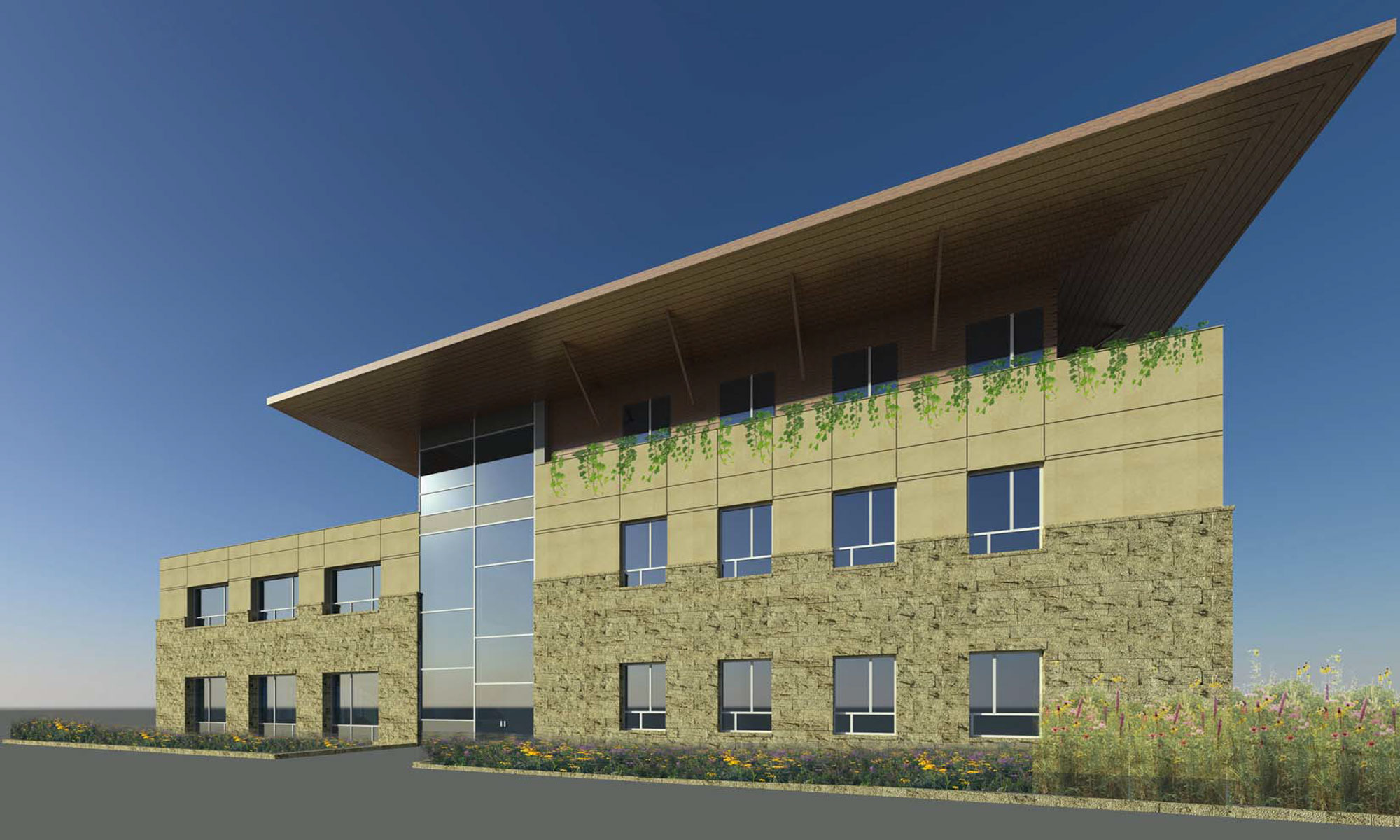 Proposed office building in Elmhurst