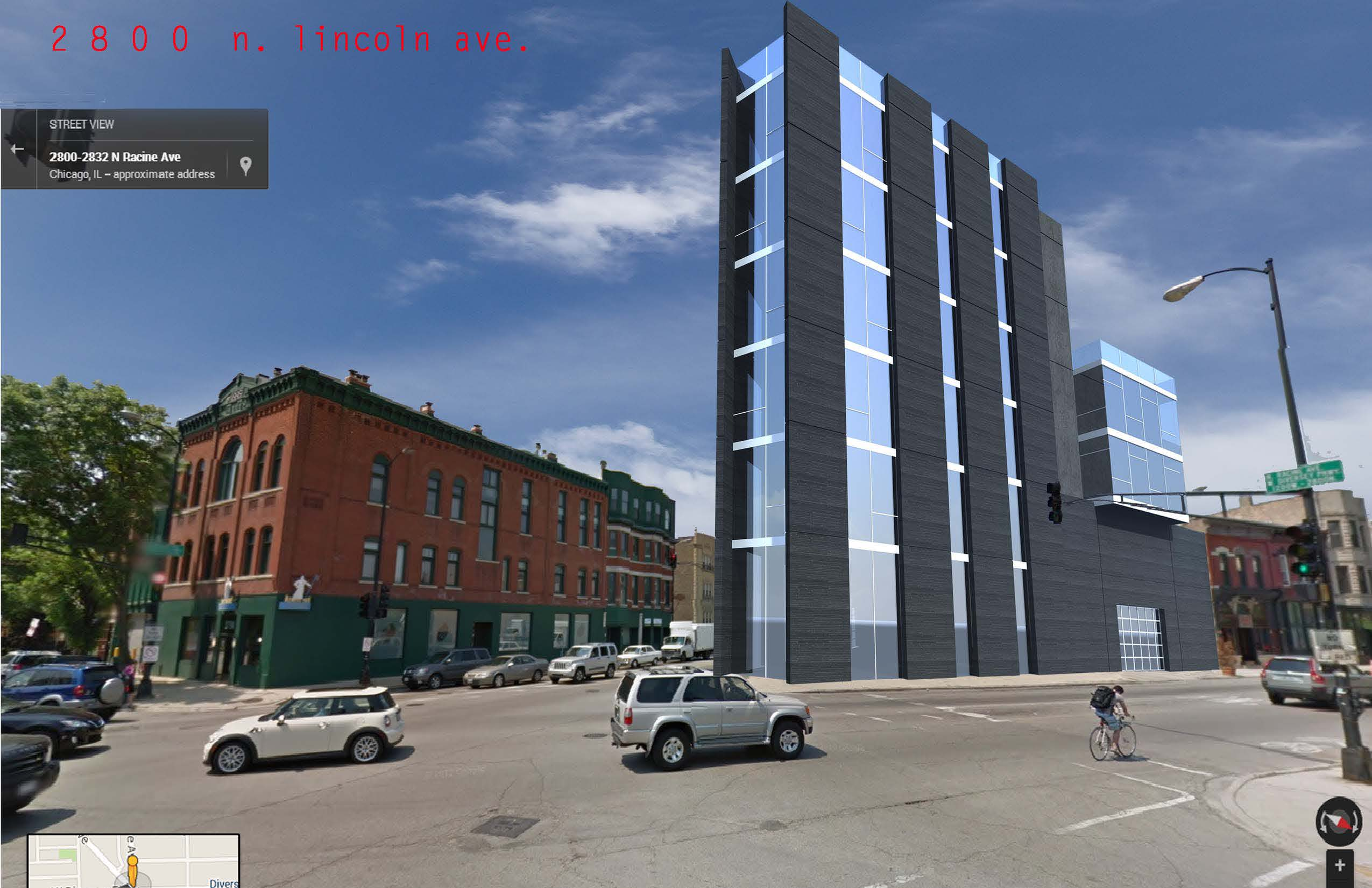 Proposed mixed use building in Lincoln Park, Chicago