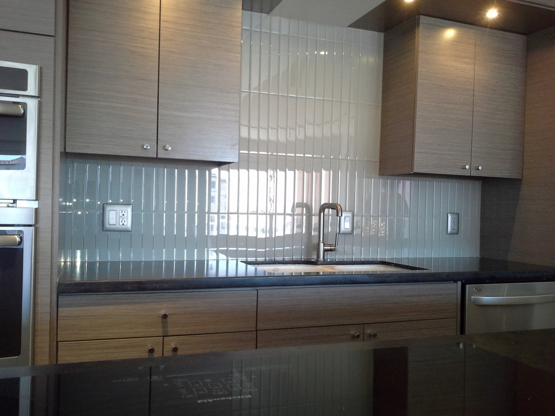 Contemporary back splash